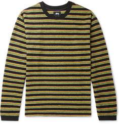 Stüssy Hudson Striped Brushed-Cotton Sweatshirt
