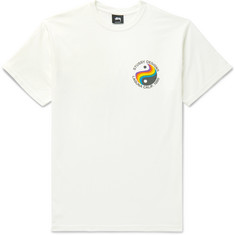 Stüssy Laguna 80 Printed Pigment-Dyed Cotton-Jersey T-Shirt