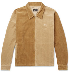 Stüssy Colour-Block Cotton-Corduroy Blouson Jacket