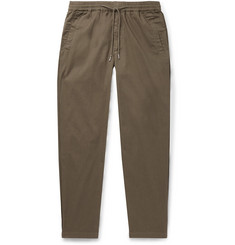 Folk Slim-Fit Tapered Cotton-Twill Drawstring Trousers