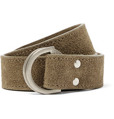 Folk 3cm Tan Orb Suede Belt