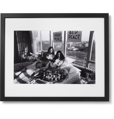 Sonic Editions Framed 1969 John and Yoko Bed Protest Print, 16