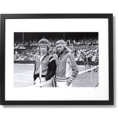 Sonic Editions Framed 1980 Bjorn Borg and John McEnroe at Wimbledon Print, 16