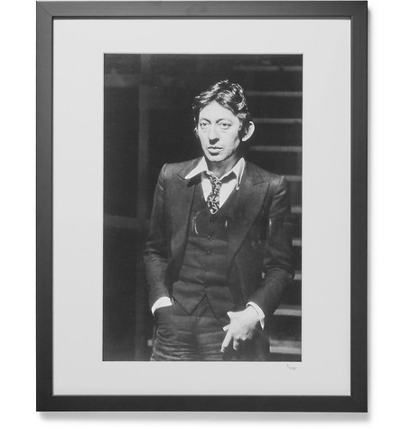 Sonic Editions Framed 1968 Serge Gainsbourg Portrait, 16