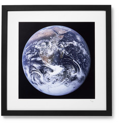 "Sonic Editions - Framed 1972 Apollo 17 View of Earth Print, 16"" x 20"""