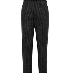 YMC Hand Me Down Cropped Striped Wool-Blend Trousers