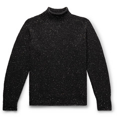 YMC Oversized Mélange Merino Wool Rollneck Sweater