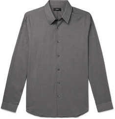Theory Irving Checked Cotton Shirt