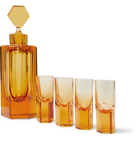 Asprey Hexagonal Crystal Liqueur Set