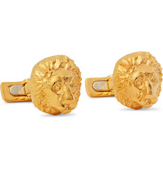 Asprey Cracker with Gold-Tone Cufflinks