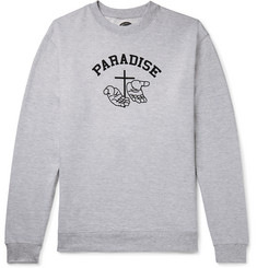 PARADISE Printed Mélange Fleece-Back Cotton-Blend Jersey Sweatshirt