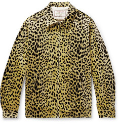 Wacko Maria + McGregor Anti-Freeze Faux Shearling-Lined Leopard-Print Cotton-Velvet Jacket