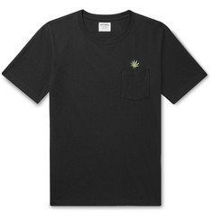 Wacko Maria Embroidered Cotton-Jersey T-Shirt
