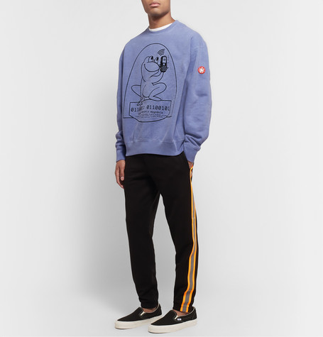 Embroidered Loopback Cotton Jersey Sweatshirt by Cav Empt