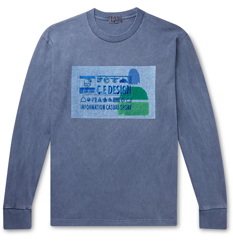 Cav Empt Embroidered Printed Cotton-Jersey T-Shirt
