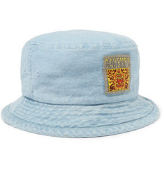 Cav Empt Logo-Appliquéd Denim Bucket Hat