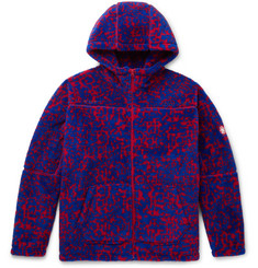 Cav Empt Printed Fleece Zip-Up Hoodie