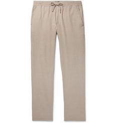 Club Monaco - Slim-Fit Stretch Cotton and Linen-Blend Drawstring Trousers