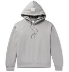 Nike + Fear of God Oversized Logo-Appliquéd Fleece-Back Cotton-Blend Jersey Hoodie