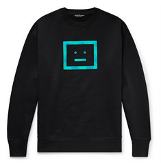 Acne Studios Forba Logo-Appliquéd Fleece-Back Cotton-Jersey Sweatshirt