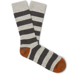 Thunders Love Nautical Turn Striped Recycled Cotton-Blend Socks