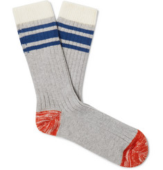 Thunders Love Nautical Turn Striped Stretch Cotton-Blend Socks