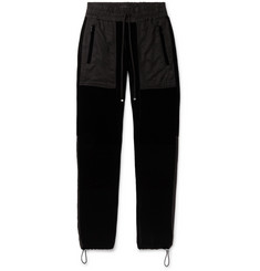 AMIRI Tapered Twill-Panelled Velvet Sweatpants