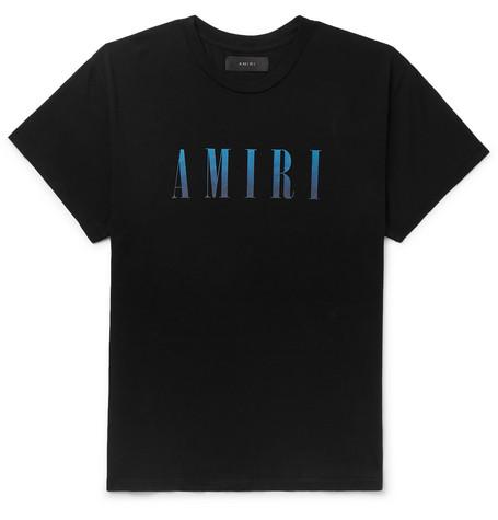 Amiri T-shirts LOGO-PRINT COTTON-JERSEY T-SHIRT