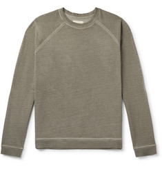 Folk Rivet Garment-Dyed Loopback Organic Cotton-Jersey Sweatshirt