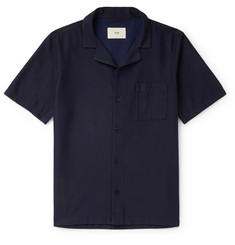 Folk Camp-Collar Cotton-Twill Shirt