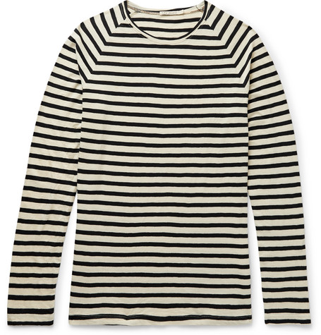 otto-striped-organic-cotton-jersey-t-shirt by nudie-jeans