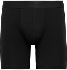Sunspel Mélange Stretch-Cotton Jersey Boxer Briefs