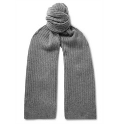 Sunspel Ribbed Lambswool Scarf