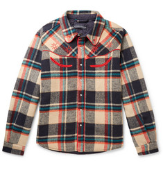 Billionaire Boys Club  Logo-Embroidered Checked Flannel Overshirt