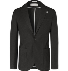 Oliver Spencer Dark-Green Theobald Unstructured Cotton and Wool-Blend Blazer