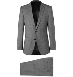 Hugo Boss Grey Huge/Genius Slim-Fit Virgin Wool Suit