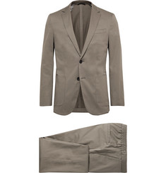 Hugo Boss Taupe Nolin/ Brider Slim-Fit Cotton-Blend Sateen Suit