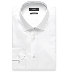 Hugo Boss Jesse Panelled Cotton-Poplin Shirt