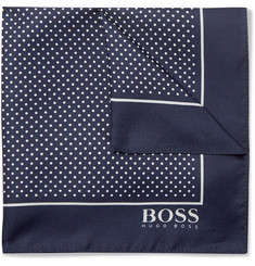Hugo Boss Pin-Dot Silk-Twill Pocket Square