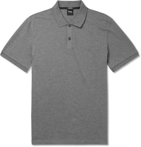 Hugo Boss T-shirts PALLAS MÉLANGE COTTON-PIQUÉ POLO SHIRT