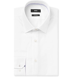 Hugo Boss White Gelson Cotton-Poplin Shirt