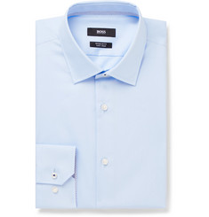 Hugo Boss Light-Blue Gelson Cotton-Poplin Shirt