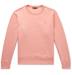 Acne Studios Fairview Logo-Appliquéd Fleece-Back Cotton-Jersey Sweatshirt