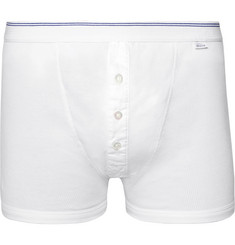 Schiesser Friedrich Ribbed Cotton Boxer Briefs