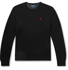 Polo Ralph Lauren Logo-Embroidered Honeycomb Cotton Sweater