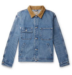 Polo Ralph Lauren Corduroy-Trimmed Denim Jacket