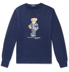 Polo Ralph Lauren Printed Fleece-Back Cotton-Blend Jersey Sweatshirt
