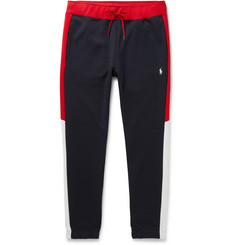 Polo Ralph Lauren Slim-Fit Tapered Logo-Embroidered Colour-Block Jersey Sweatpants