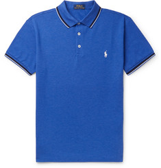 Polo Ralph Lauren Slim-Fit Contrast-Tipped Stretch-Cotton Piqué Polo Shirt