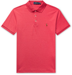 Polo Ralph Lauren Slim-Fit Mélange Pima Cotton Polo Shirt